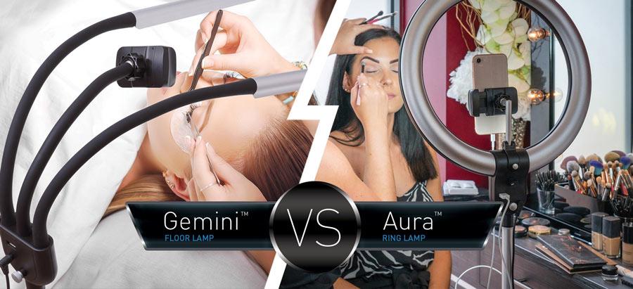 Aura Ringlamp versus Gemini